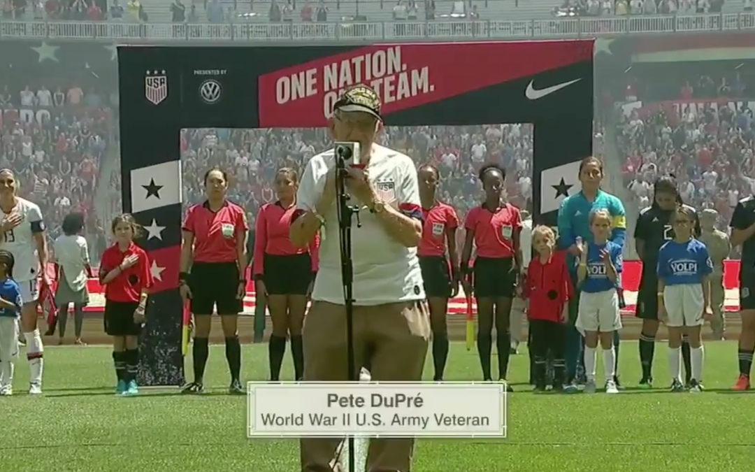 Stadium Goes Wild As 96-Year-Old Veteran Plays National Anthem On Harmonica