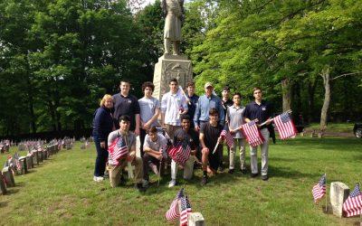 Flags for Veterans on Memorial Day